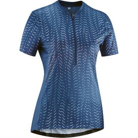 Gonso Giustina Half-Zip SS Bike Jersey Women, insignia blue